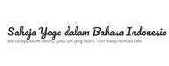 Sahaja Yoga dalam Bahasa Indonesia